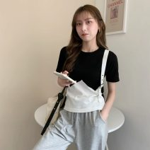 T-shirt Gray, white, black Average size Spring 2021 Short sleeve Crew neck Fake two pieces have cash less than that is registered in the accounts routine commute other 30% and below 18-24 years old Korean version Other / other W0331