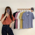 shirt White, purple, red, blue, yellow, black Average size Spring 2021 other 30% and below Short sleeve commute Regular Polo collar 18-24 years old Straight cylinder Other / other Korean version 0401L
