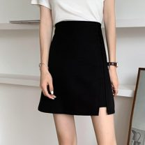 skirt Summer 2021 S,M,L Apricot, blue, black, pink Short skirt commute High waist A-line skirt Solid color Type A 18-24 years old W0410 31% (inclusive) - 50% (inclusive) other Other / other Korean version