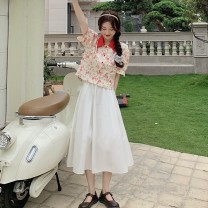 Fashion suit Summer 2021 Average size Red top, white skirt 18-25 years old Other / other 0413L 30% and below