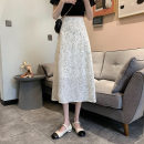 skirt Summer 2021 S,M,L Apricot, grey Mid length dress commute High waist Broken flowers Type A 18-24 years old 0417Y 31% (inclusive) - 50% (inclusive) Other / other Korean version