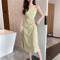 Dress Spring 2021 Purple, black, fruit green Average size Mid length dress singleton  Sleeveless commute High waist Solid color Socket A-line skirt camisole 18-24 years old Type A Other / other Korean version 0123M 31% (inclusive) - 50% (inclusive) other