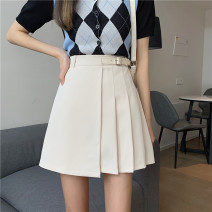 skirt Spring 2021 S,M,L Apricot, black Short skirt commute High waist Pleated skirt Type A 18-24 years old 0331Y 30% and below Other / other Korean version