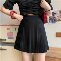 skirt Spring 2021 Average size White, black Short skirt commute High waist Pleated skirt Solid color Type A 18-24 years old 0316Y 31% (inclusive) - 50% (inclusive) Other / other other fold Korean version