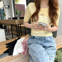 T-shirt It's white, it's yellow, it's pink Average size Summer 2021 Short sleeve Crew neck Self cultivation have cash less than that is registered in the accounts commute other 30% and below 18-24 years old Korean version Solid color Other / other 0413L