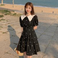 Dress Summer 2021 White, black S, M Middle-skirt singleton  Short sleeve commute square neck High waist Socket puff sleeve Others 18-24 years old Type A Other / other Korean version 0409Y 31% (inclusive) - 50% (inclusive)