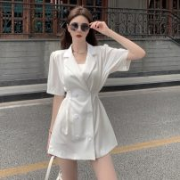 Dress Spring 2021 White, black Average size Short skirt singleton  Short sleeve commute tailored collar Others 18-24 years old Other / other Korean version 0321L 30% and below other