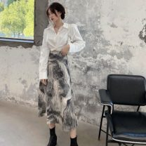 Fashion suit Spring 2021 S. M, average size White shirt, skirt 18-25 years old Other / other 0320L 30% and below