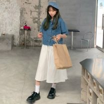 Fashion suit Spring 2021 Average size Denim top, skirt 18-25 years old Other / other 0326L 30% and below
