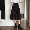 skirt Summer 2021 Average size White, black Mid length dress commute High waist A-line skirt Type A 18-24 years old 0411L 30% and below other Other / other other Korean version