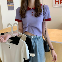 T-shirt White, purple, black Average size Spring 2021 Short sleeve Polo collar Self cultivation have cash less than that is registered in the accounts commute other 31% (inclusive) - 50% (inclusive) 18-24 years old Korean version Other / other 0401Y