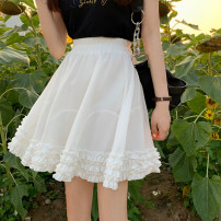 skirt Summer 2021 Average size White, black Short skirt commute High waist A-line skirt Type A 18-24 years old 0413Y 30% and below other Other / other Korean version