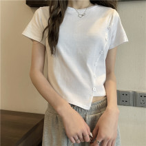 T-shirt Gray, white, black Average size Spring 2021 Short sleeve Crew neck Self cultivation have cash less than that is registered in the accounts commute other 30% and below 18-24 years old Korean version Other / other 0403L