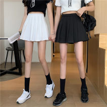skirt Spring 2021 S,M,L White, black Short skirt commute High waist Pleated skirt Type A 18-24 years old 0318Y 31% (inclusive) - 50% (inclusive) Other / other Korean version