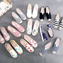 canvas shoe The old Beijing cloth shoes Low Gang 34,35,36,37,38,39,40,41 Spring of 2018 Trochanter leisure time rubber lattice Youth (18-40 years old), middle age (40-60 years old) Nurse shoes Injection process zero point four five