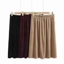 Women's large Spring 2021 Black, Burgundy, khaki Large XL, large XXL, large XXL, large XXXXL, large XXXXL skirt singleton  commute easy moderate Solid color Korean version routine polyester fiber Three dimensional cutting CZ ---298 25-29 years old 51% (inclusive) - 70% (inclusive) longuette trousers