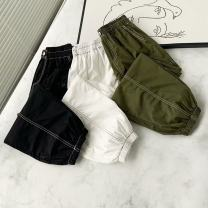 Women's large Autumn 2020 White, black, army green Large XL, large XXL, large XXL, large XXXXL, large XXXXL trousers singleton  commute moderate Korean version Three dimensional cutting 25-29 years old Ninth pants