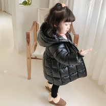 Cotton padded jacket female No detachable cap Cotton 96% and above Other / other Black, fruit green, pink 80cm,90cm,100cm,110cm,120cm,130cm thickening Zipper shirt Korean version There are models in the real shooting Solid color Cotton blended fabric other Intradermal bile duct