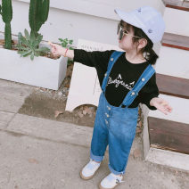 trousers Other / other female 80cm,90cm,100cm,110cm,120cm,130cm True colors spring and autumn trousers Korean version There are models in the real shooting rompers Button Denim Don't open the crotch YZJ tapered Suspenders YZJ tapered Suspenders Chinese Mainland Zhejiang Province
