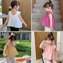 Vest sling Purple, white, yellow, pink Sleeveless 90,100,110,120,130,140 summer Other / other female There are models in the real shooting Korean version Solid color One word collar nothing Cotton blended fabric XW four color baby vest