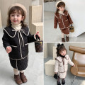 suit Other / other Black, apricot, brown 90cm,100cm,110cm,120cm,130cm female winter Korean version Long sleeve + skirt 2 pieces thickening There are models in the real shooting Single breasted nothing other cotton children Expression of love DD temperament cotton padded suit
