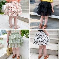 skirt DD short cake skirt Other / other Other 100% female Six months, 12 months, 9 months, 18 months, 2 years old, 3 years old, 4 years old, 5 years old, 6 years old, 7 years old, 8 years old summer skirt Cake skirt Dot Korean version Chiffon Black, black and white dots, green dots, orange flowers
