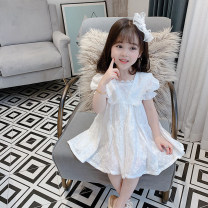 Dress white female Other / other 90cm,100cm,110cm,120cm,130cm Other 100% summer princess Short sleeve Solid color other Princess Dress Class B 12 months, 18 months, 2 years old, 3 years old, 4 years old, 5 years old, 6 years old, 10 years old, 11 years old Chinese Mainland