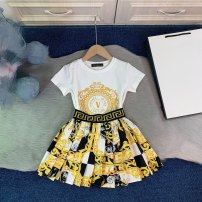 Dress Light yellow female Other / other 110cm,120cm,130cm,140cm,150cm,160cm Cotton 80% wool 20% summer Britain Short sleeve Solid color cotton A-line skirt 7, 8, 14, 3, 6, 2, 13, 11, 5, 4, 10, 9, 12 Chinese Mainland