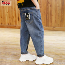 trousers Mizoguo male 110cm 120cm 130cm 140cm 150cm 160cm 170cm Small standard denim blue (without cashmere) small standard denim blue (with cashmere) small standard decorative anti mosquito pants, the size is enough, don't be greedy spring and autumn trousers leisure time Jeans Leather belt mnzk9302