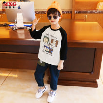 T-shirt White yellow Navy Mizoguo 110cm 120cm 130cm 140cm 150cm 160cm male spring and autumn Long sleeves Crew neck leisure time There are models in the real shooting nothing Pure cotton (100% cotton content) Cartoon animation Cotton 100% mctx0051 Class B Autumn 2020 Chinese Mainland