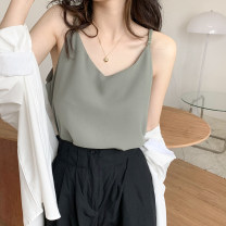 Vest sling Summer 2021 Black, blue, apricot, green, orange Average size singleton  routine easy commute camisole Solid color 18-24 years old 30% and below