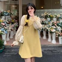 Fashion suit Spring 2021 Average size Yellow strap skirt , Pink shirt , white shirt , blue shirt , Grey strap skirt , Black strap skirt , Apricot shirt 18-25 years old 30% and below