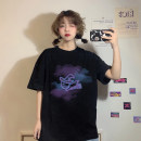 T-shirt Black little witch T-shirt, white little witch T-shirt Average size Summer 2021 Short sleeve Crew neck easy Regular routine commute other 30% and below 18-24 years old Korean version youth printing