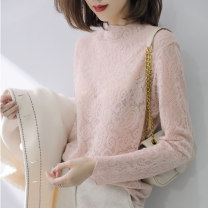 Lace / Chiffon Winter of 2019 Pink White Black M L Long sleeves commute Socket singleton  Self cultivation have cash less than that is registered in the accounts Crew neck Solid color routine 25-29 years old Shemia XM9266 Splicing Other 100% Pure e-commerce (online only)