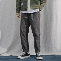 Casual pants Black, gray, khaki, army green M,L,XL,2XL Autumn of 2019 trousers Overalls Natural waist street routine 18-24 years old 96% and above Other / other cotton printing and dyeing cotton neutral