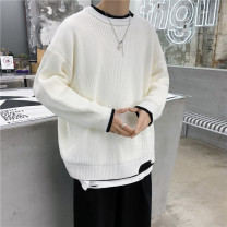 T-shirt / sweater Others Youth fashion Khaki, white, blue, black M. L, XL, 2XL, s small, XS plus small routine Socket Crew neck Long sleeves easy 2020 leisure time tide teenagers No iron treatment Coarse wool (8, 6)