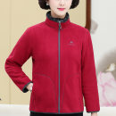 Middle aged and old women's wear Spring 2021 L XL 2XL 3XL 4XL 5XL fashion Sweater / sweater easy singleton  Solid color 40-49 years old Cardigan moderate Half high collar routine routine The clothes of Europe pocket other Other 100% 96% and above Pure e-commerce (online only) zipper