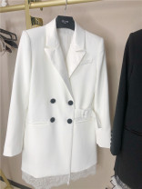 suit Spring 2021 Milky white, black, transparent S,M,L Long sleeves Medium length Self cultivation tailored collar Single breasted other routine Solid color 96% and above