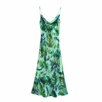 Dress Summer 2021 As shown in the figure XS,S,M,L Mid length dress street High waist 18-24 years old 81% (inclusive) - 90% (inclusive) Europe and America