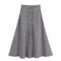 skirt Autumn of 2019 XS,S,M,L As shown in the figure Mid length dress street High waist 18-24 years old 81% (inclusive) - 90% (inclusive) Europe and America
