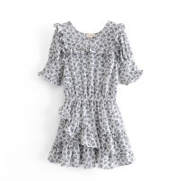 Dress Spring 2021 As shown in the figure S,M,L Short skirt Short sleeve street High waist 18-24 years old 81% (inclusive) - 90% (inclusive) Europe and America