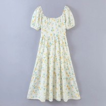 Dress Summer 2021 As shown in the figure S,M,L Mid length dress Short sleeve street High waist 18-24 years old 81% (inclusive) - 90% (inclusive) Europe and America