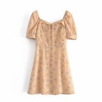 Dress Summer 2021 As shown in the figure S,M,L Short skirt Short sleeve street square neck High waist 18-24 years old 81% (inclusive) - 90% (inclusive) Europe and America