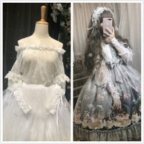 Lace / Chiffon Lolita Spring 2020 Long sleeve Sweet have cash less than that is registered in the accounts Condom easy Lotus leaf collar other Sauce Leg sleeve with lace One size fits all