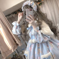 Dress Spring 2020 Bunny and bear donut skirt without Cape M, L Middle-skirt singleton  Long sleeves Sweet Doll Collar middle-waisted Decor Socket Princess Dress Princess sleeve Others 18-24 years old Sauce 71% (inclusive) - 80% (inclusive) other other Lolita