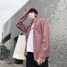 shirt Youth fashion Oriental Lion City S M L XL 2XL C01 white C01 black C02 black C02 meter white C03 black C03 red C03 yellow C04 lattice grey C04 lattice red C04 dark blue C05 white C05 black pure white shirt routine Long sleeves Pointed collar (regular) easy Other leisure Four seasons 001225 tide