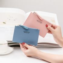 wallet Short Wallet PU other zipper Solid color 90% off Horizontal style letter polyester fiber
