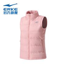Cotton vest S,M,L,XL,2XL,3XL female Erke / hongxingerke Rose powder, black Winter 2020 zipper Brand logo, pattern, letter ventilation stand collar cotton Women's training