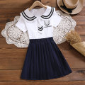 suit Children's flag White pink 140cm 150cm 160cm 170cm female summer college Short sleeve + skirt 2 pieces routine No model Socket nothing Solid color cotton children Learning reward TQ70134 Class B Cotton 95% polyurethane elastic fiber (spandex) 5% Summer 2021 Chinese Mainland Guangdong Province