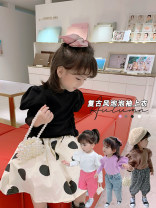 T-shirt Black, white, brown Other / other 7(90cm),9(100cm),11(110cm),13(120cm),15(130cm) female spring and autumn Long sleeves Korean version nothing other Solid color F7098 2 years old, 3 years old, 4 years old, 5 years old, 6 years old Chinese Mainland